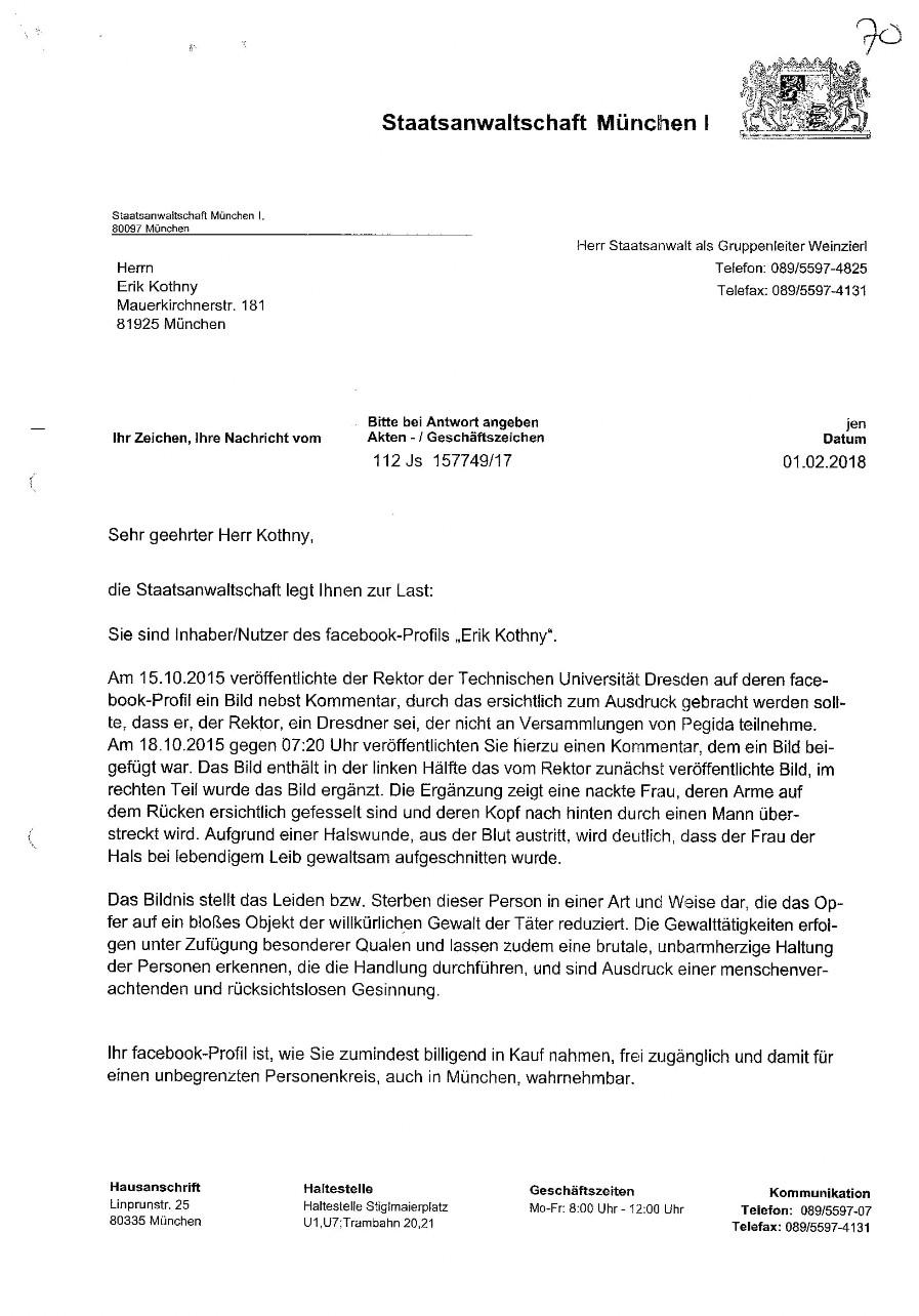 Original Brief Der Sta Staatsanwalt Versus Erik Kothny